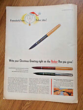1953 Parker 51 21 Pens Ad  White Your Christmas Greeting on the Pen