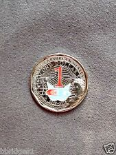 Eastern East Caribbean States $1 Dollar Color Coin 2015 - UNC