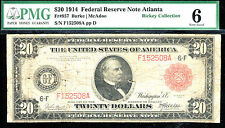 FR # 957 / 1914 $20 Red FRN -Atlanta -14 known only rare- PMG 6
