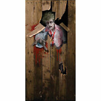 zombie scary Halloween Prop Party fancy dress DOOR POSTER decoration 6ft x 3ft