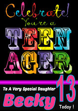 'YOU'RE A TEENAGER!' Personalised Birthday Card! ANY NAME / RELATION.COOL CARD!!