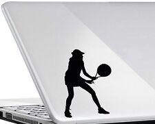 Tenis De Mujer #1 Vinilo calcomanía adhesivo con el logotipo de tenis de Wimbledon Ipad Mac Portátil Mod