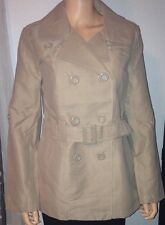 Belted Double Breasted Khaki LIGHT fall/spring Coat Size junior Small