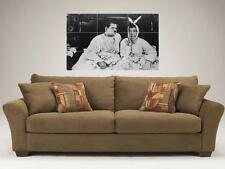 "LAUREL AND HARDY B&W MOSAIC 35""X25"" INCH WALL POSTER COMEDY RABBITS"