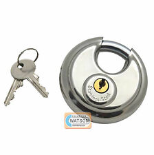 KEYED ALIKE 70mm STAINLESS STEEL Shutter Gate Disc Discus Padlock Waterproof