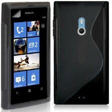 NEW SLINE S-LINE GEL CASE COVER SKIN FOR NOKIA LUMIA 800 BLACK