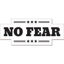 "No Fear car bumper sticker decal 8"" x 3"""