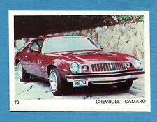 AUTO E MOTO - Figurina-Sticker n. 76 - CHEVROLET CAMARO -New