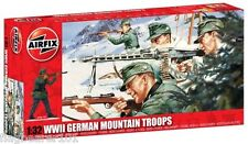 AIRFIX A04713 WWII GERMAN MOUNTAIN TROOPS 1:32 SCALE. 29 FIGURES + ACCESSORIES