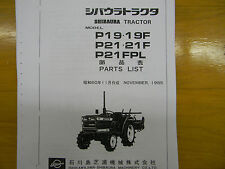 Shibaura P19 and P21 Tractor Parts Manual