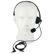 Black 2 Pin PTT MIC Earpiece Headset for Motorola Walkie Talkie Radios New