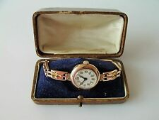 LADIES VINTAGE 1920'S 30'S .375 9CT ROSE GOLD ROLEX WRIST WATCH + BOX  27.4g
