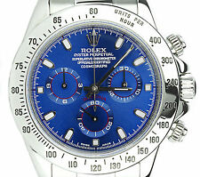 Rolex Daytona Stainless Steel 116520 Custom Blue Dial