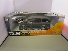 JADA 1/18 DUB CITY BIG BALLERS GRAY CHEVY ASTRO VAN NEW IN BOX 24 DUBS *READ*