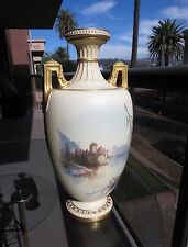 "Royal Worcester Two Handled Vase ""The Prison of Chillon""  Massive 16.5"" - 41cm"