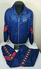 Vtg FILA Track Suit Jacket Pants Set Borg Bj 90's Jogging Windbreaker Colorblock