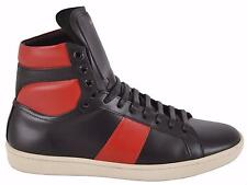 NEW Saint Laurent YSL Men's Red Black 330264 High Top Wolly Sneakers Shoes 39 6