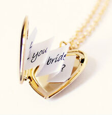 Women Men Pendant Valentine lover birthday gifts Heart Photo Locket necklace