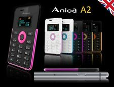 ✮Anica A2 Mini Smallest Card Plastic Mobile Backup Phone +Bluetooth Sync��GIFT��