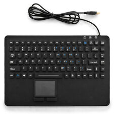 Silicone Industrial Waterproof USB Rack Mount Keyboard with Touchpad KB-87