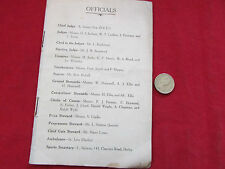 DERBY  Cycling Tournament  Original 1930's  Programme  Great Period Adverts