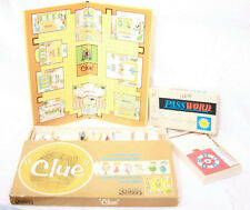 """20"""" BOARD GAME LOT 1963 PARKER BROTHERS CLUE & 1966 MILTON BRADLEY PASSWORD"""