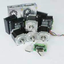 【US Ship】4 axis 4 nema 34 stepper motors 1232oz.in 5.6A&4 drivers  Longs Motor