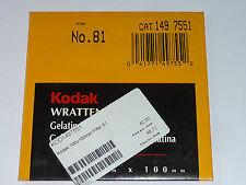 Kodak Wratten Gelatinefilter  100mmx100mm   No. 81