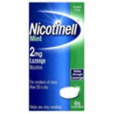 3 X Nicotinell Lozenges Mint 2mg 96s - Helps quit smoking