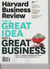 HARVARD BUSINESS REVIEW MAGAZINE MAY'13, TURN A GREAT IDEA INTO A GREAT BUSINESS