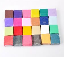 24x Starter Pack Mixed Colour Set Oven Bake Polymer Clay Bars Modelling Moulding