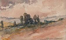 MARCUS ADAMS Watercolour Painting IMPRESSIONIST TREES IN LANDSCAPE 1950