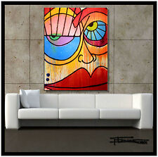 ABSTRACT MODERN CANVAS PAINTING HUGE CONTEMPORARY WALL ART..ELOISExxx