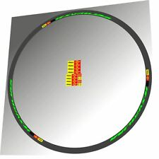 MAVIC KSYRIUM SLR FLUORESCENT GREEN REPLACEMENT RIM DECAL SET FOR 2 RIMS