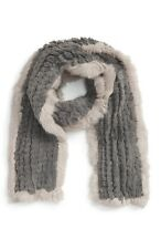 La Fiorentina Faux Fur Muffler with Genuine Rabbit Fur Trim