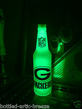 NFL Green Bay Packers Football 12 oz Beer Bottle Light LED Neon Bar Pub Rodgers