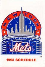 1993 New York Mets Team Schedule Chemical Bank