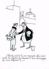 RIT / DESSIN HUMORISTIQUE ANNEES 50 / LE BOURGEOIS ET L'OUVRIER
