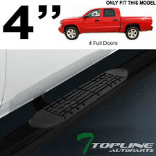"4"" OVAL HD BLK SIDE STEP NERF BARS running boards 2005-2012 DAKOTA QUAD/CREW CAB"