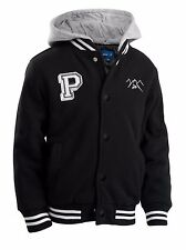 The Polar Club Mens Fleece Varsity Baseball Jacket Padded Black or GRAY ALL SIZE