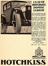 AUTOMOBILE FRENCH MAG AD 1927 HOTCHKISS LA 12 CH SIGNED A. KOW