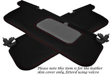 RED STITCH FITS SUBARU IMPREZA WRX STI 92-98 2X SUN VISORS LEATHER COVERS ONLY