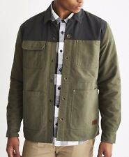 2016 NWT MENS VANS GABLE JACKET $100 M Anchorage/Green/Black waxed canvas army