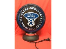NEW Petrol Bowser Globe and Base Ford illuminated sign