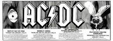 """30/11/85pg37 Concert Dates Advert 4x10"""" Ac/dc"""