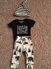 Newborn Boy Little Brother 3 piece Etsy Outfit - Paisley Prints Spokane