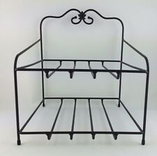 Longaberger Wrought Iron Paper Tray Stand Bin Foundry