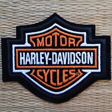 Harley Davidson Classic Orange Logo Sew-on Patch (Small) - Made in USA