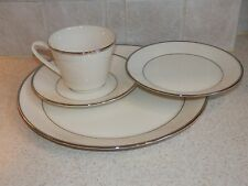LENOX CHINA RAPTURE PATTERN 4 PIECE SETTING PLATINUM TRIM GREAT CONDITION!