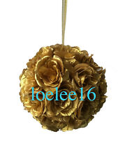 "10"" Flower Kissing Ball Wedding Silk Rose Party Pomander"